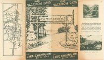 Image of 1940 Vacation Days at Camp of the Pines on Lake Champlain, June 29-Sept. 3 - Camp-of-the-Pines (Willsboro, N.Y.)