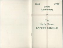 Image of 1860-1960 : 100th Anniversary of The North Chester Baptist Church - LaBar, Frank M.
