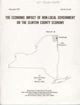 Image of The Economic Impact of Non-Local Government on the Clinton County Economy / by Dennis U. Fisher and Michel L. Hiser - Fisher, Dennis U.