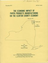 Image of The Economic Impact of Paper Products Manufacturing on the Clinton County Economy / by Michel L. Hiser and Dennis U. Fisher - Hiser, Michel L.