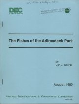 Image of The Fishes of the Adirondack Park / by Carl J. George - George, Carl J.