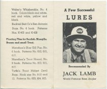 Image of A Few Successful Lures Recommended by Jack Lamb, World Famous Bass Angler - Lamb, Jack