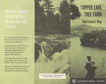 Image of Tupper Lake Tree Farm : Sportsman's Map - International Paper Company