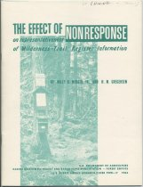 Image of The Effect of Nonresponse on Representativeness of Wilderness-Trail Register Information / by Wiley D. Wenger, Jr. and H. M. Gregersen - Wenger, Wiley D., Jr.