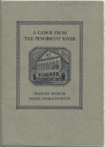 Image of A Canoe from the Penobscot River  / by Wendell S. Hadlock and Ernest S. Dodge - Hadlock, Wendell S.
