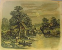 Image of [Mill and Paddle Wheel] - Print