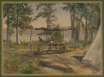 Image of Untitled: Campsite or Tupper Lake - Painting