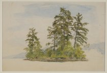 Image of The Island Pines, Lake George - Painting