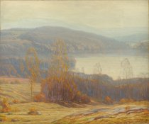 Image of Indian Summer, Blue Moutain Lake, NY - Painting