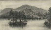 Image of Scene on Lake Luzerne, N.Y. - Drawing