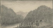 Image of View on the Sacandaga River near Northville, N.Y. - Drawing