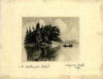 Image of A Northwoods Island. - Print