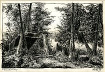 Image of Deserted Camp - Drawing
