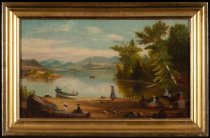 Image of Scroon [sic] Lake, N.Y. - Painting