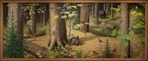 Image of Inside the Adirondack Forest - Painting