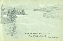 Image of [View on Lower Saranac Lake From Bluff Island] - Drawing
