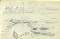 Image of [Ampersand Mt. from Rodger Brook Camp] - Drawing