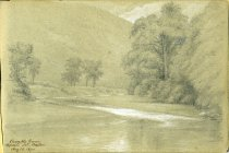 Image of [Ausable River, Opposite Mt. Baxter] - Drawing