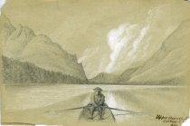 Image of [Upper Ausable Lake, Looking NE] - Drawing