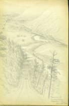 "Image of [View From the ""Inclined Plane"",  Ralston, PA] - Drawing"