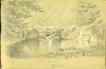 Image of [Pool on John's Brook, Adirondacks] - Drawing