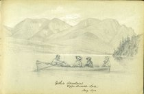 Image of [Gothic Mountains.  Upper Ausable Lake] - Drawing