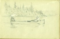 Image of [Untitled: Boating] - Drawing