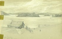 Image of [Upper Saranac from Cory's] - Drawing