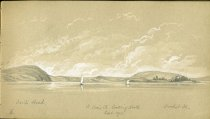Image of [St. Croix River looking North] - Drawing
