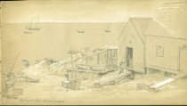 Image of [Sprague Cove Fishing Houses] - Drawing