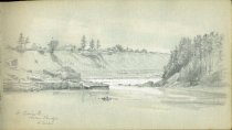 Image of [St. Croix River from Bridge at Calais] - Drawing