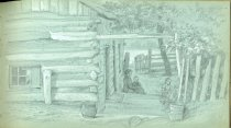Image of [Untitled: Cabin and Porch] - Drawing