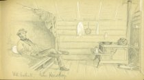 Image of [Untitled: Inside Cabin] - Drawing