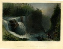 Image of Trenton Falls, View Down the Ravine. - Print