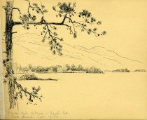 Image of [Fourteen Mile Island, Buck Mt., Lake George] - Drawing