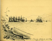 Image of [Gourd Island, Lake George] - Drawing