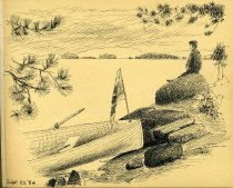 Image of [Untitled: Boat] - Drawing