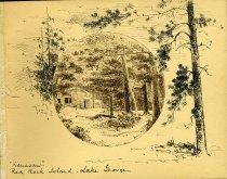 "Image of [""Kenesaw"" / Red Rock Island, Lake George] - Drawing"