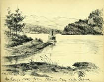 Image of [Anthony's Nose from Blair's Bay, Lake George] - Drawing