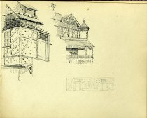 Image of [Untitled: Rustic Houses] - Drawing