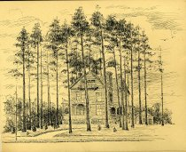 Image of [Untitled: Rustic House] - Drawing