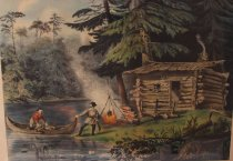 Image of The Hunters Shanty. In the Adirondacks. - Print