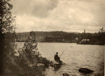 Image of View from Crane's Point, Blue Mountain Lake, Adirondacks, N.Y. - Collotype