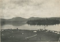 Image of Looking North-West from the Prospect House, Blue Mountain Lake, Adirondacks, N.Y. - Collotype