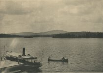 Image of West Mountain from Bennett's Hotel, Raquette Lake, Adirondacks, N.Y. - Collotype