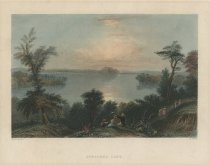 Image of Saratoga Lake. - Print