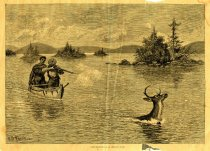 Image of Deer Shooting On an American Lake - Print