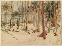 Image of Untitled: Winter Landscape - Painting