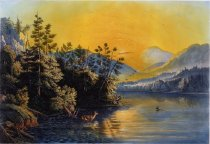 Image of Sunrise On Lake Saranac - Print