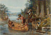 Image of American Hunting Scenes. 'An Early Start.' - Print